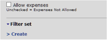 Expenses Entered Against Certain Projects