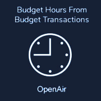 Budget Hours From Budget Transactions