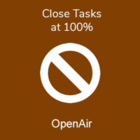 Close Tasks at 100%