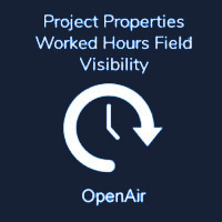 Project Properties Worked Hours Field Visibility