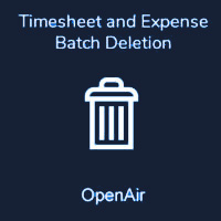 Timesheet and Expense Batch Deletion