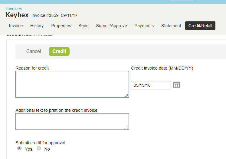 Made A Mistake On An Invoice Need To Issue A Credit OpenAir Can Do - Issue invoice