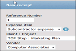 OpenAir New Receipt
