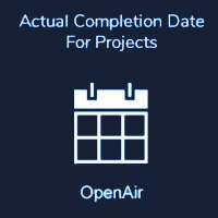 Actual Completion Date For Projects