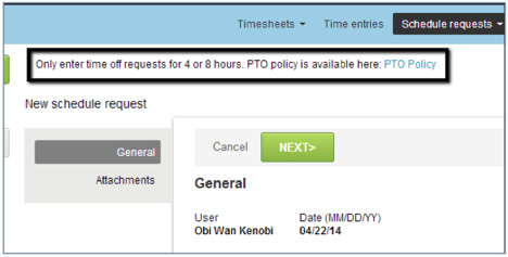 PTO Policy