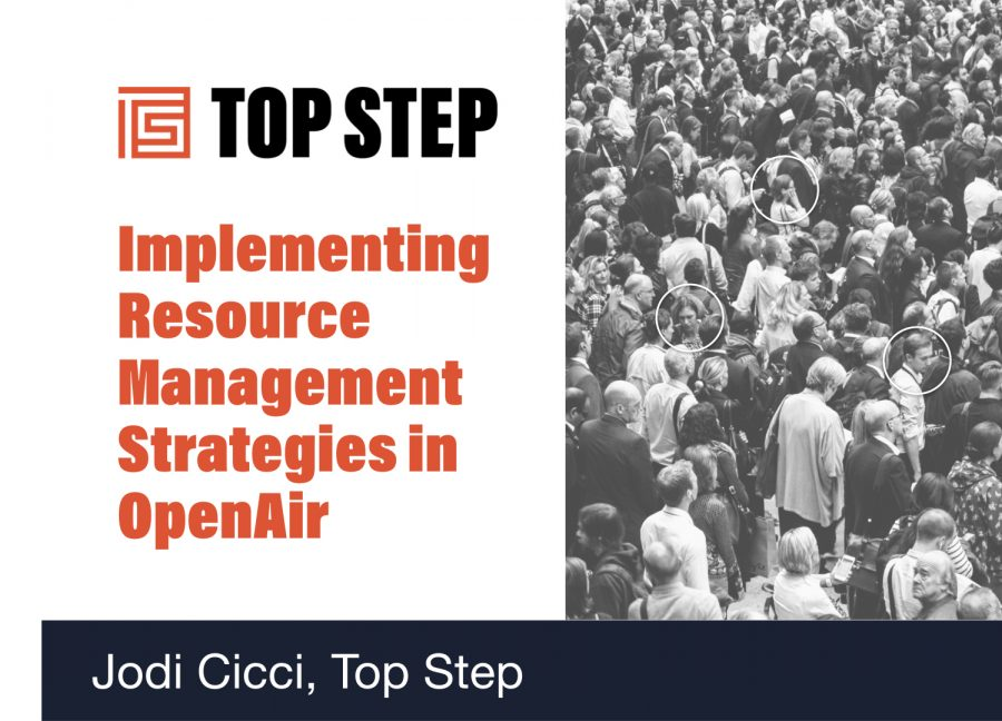 Implementing resource mangagement strategies in OpenAir